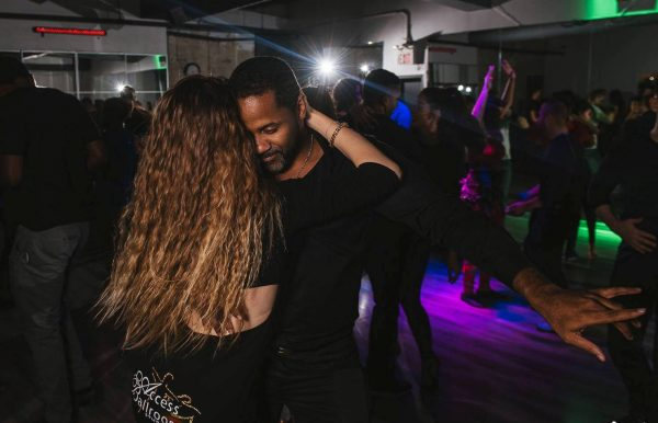 couple dancing night out