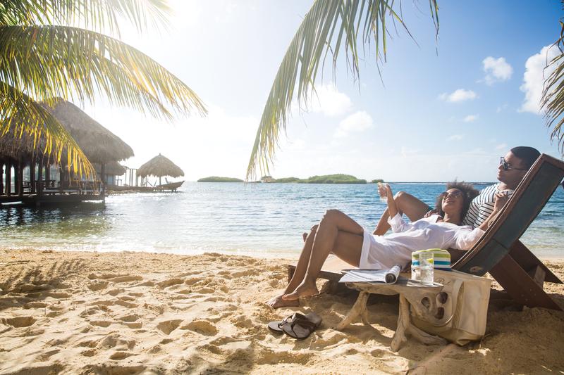 couple honeymoon beach