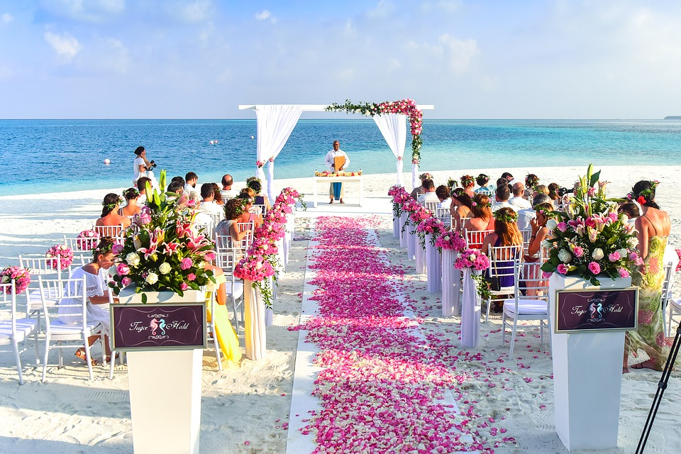 Aruba wedding on the beach
