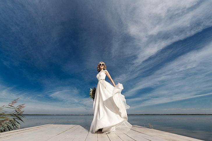 blue sky wedding photo booth