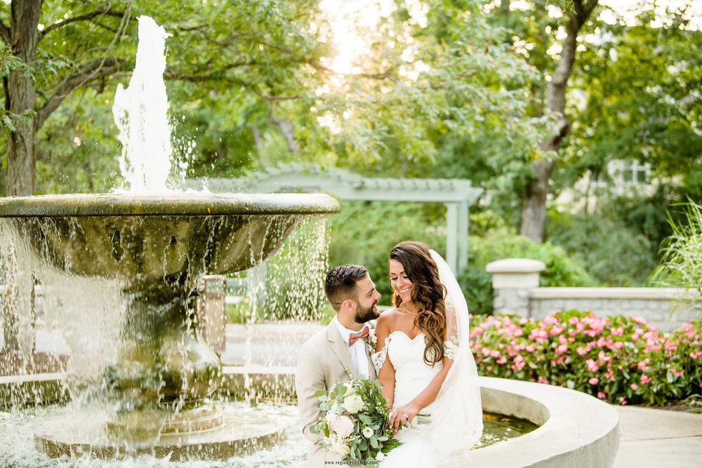 fountain wedding